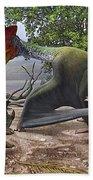 A Large Bakonydraco Pterosaur Attacking Beach Towel by Sergey Krasovskiy