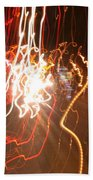 A Light Dance In Old Town Beach Towel