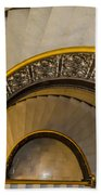 A Look Down The Stairs Beach Towel