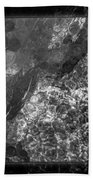 A Magical Face In The Water Abstract Black And White Painting Beach Towel