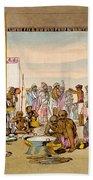 A Mahratta Surdar Entertaining Beach Towel