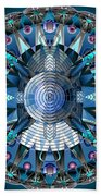 A Mandala Abstract Beach Towel
