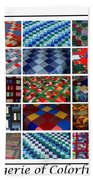 A Menagerie Of Colorful Quilts  Beach Towel by Barbara Griffin