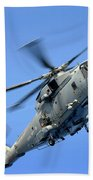 A Merlin Helicopter Beach Towel