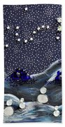 A Midnight Clear Beach Towel