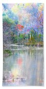 A Monet Autumn Beach Towel