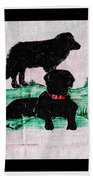 A Newfoundland Dog And A Labrador Retriever Beach Towel