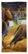 A Night At The Rodeo V18 Beach Towel