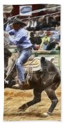 A Night At The Rodeo V19 Beach Towel