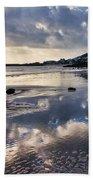 A November Afternoon At Lyme Regis Beach Towel