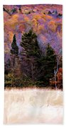 A Painting Autumn Field Beach Towel