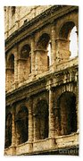 A Painting The Colosseum Beach Towel