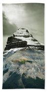 A Peak Of A Mountain Top In The Rocky Beach Towel