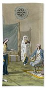 A Persian Harem, From Le Costume Ancien Beach Towel