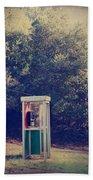 A Phone In A Booth? Beach Towel