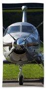A Pilatus Pc-12 Private Jet Beach Towel