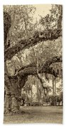 A Place For Dying Sepia 2 Beach Towel