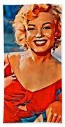 A Portrait Of Marilyn Beach Towel
