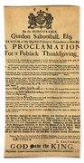 A Proclamation Of Thanksgiving Beach Towel
