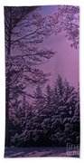 A Quiet Snowy Night Beach Towel