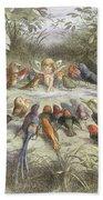 A Rehearsal In Fairy Land, Illustration Beach Sheet