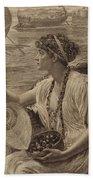 A Roman Boat Race Beach Towel by English School