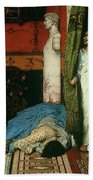 A Roman Emperor   Claudius Beach Towel by Sir Lawrence Alma Tadema
