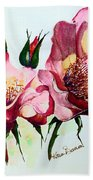 A Rose Is A Rose Beach Towel by Karin  Dawn Kelshall- Best