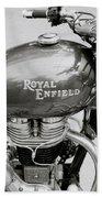 A Royal Enfield Motorbike Beach Towel