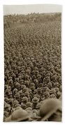 A Sea Of Helmets World War One 1918 Beach Towel