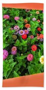 A Sea Of Zinnias 06 Beach Towel
