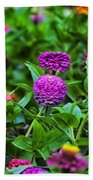 A Sea Of Zinnias 14 Beach Towel
