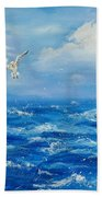 A Seagull's View George's Head Kilkee Co. Clare Beach Towel