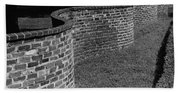 A Serpentine Brick Wall Beach Towel