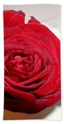 A Single Red Rose Beach Towel