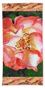 A Single Rose The Dancing Swirl  Beach Towel