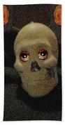A Skull In The Dark Pop Art Beach Towel