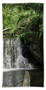 A Small Waterfall Beach Towel