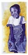 A Smile For You From Haiti Beach Towel by Margaret Bobb