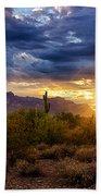 A Sonoran Desert Sunrise Beach Towel