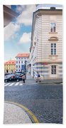 A Street In Prague Beach Towel