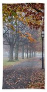 A Stroll In Salem Fog Beach Towel