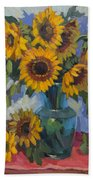 A Sunflower Day Beach Towel