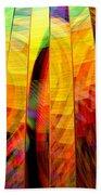 A Sunny Autumn Day  Beach Towel