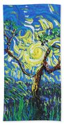 A Sunny Day For The Tree Beach Towel