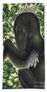A Suspicious Deinonychus Antirrhopus Beach Towel