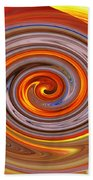 A Swirl Of Colors From The Sun And Earth Beach Towel
