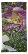 a taste of dew i do and PCC  garden too     GARDEN IN SPRING MAJOR Beach Towel by Kenneth James