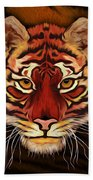 A Tiger's Stare Beach Towel