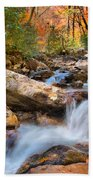 A Touch Of Autumn At Skinny Dip Falls Beach Towel